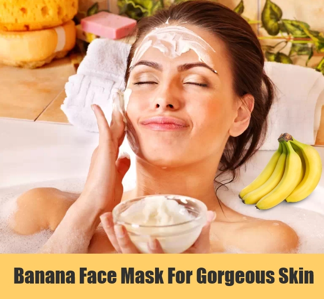 banana face mask for glowing skin