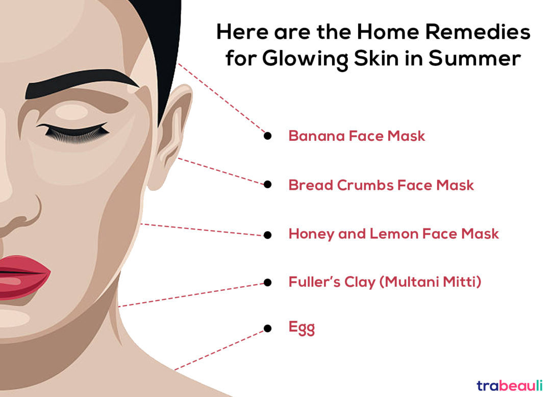 home remedies for gloing skin