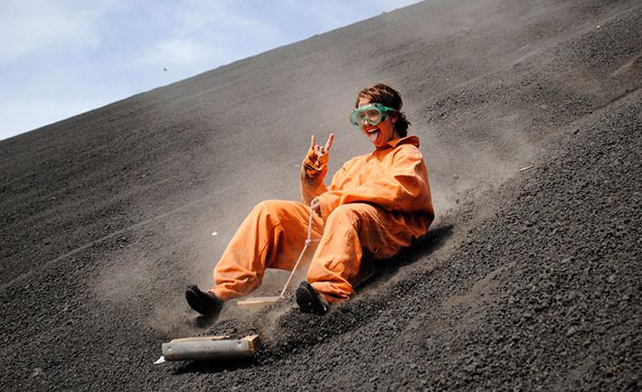 volcano-boarding