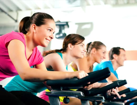 indoor cycling exercise