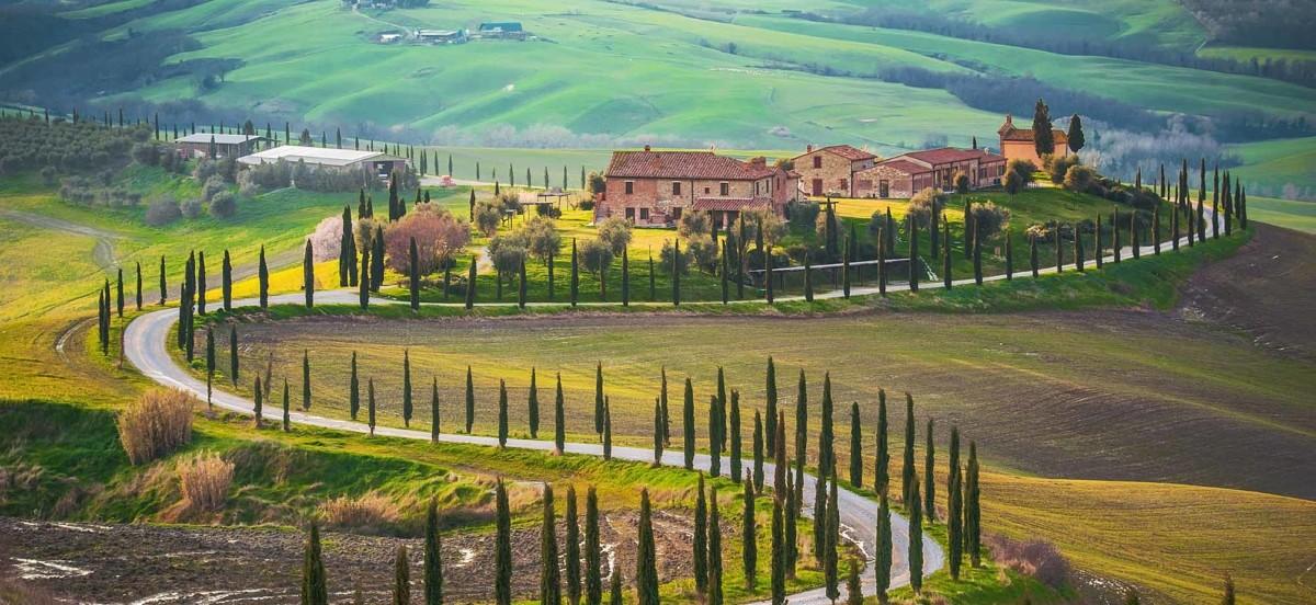 Tuscany Italy Road