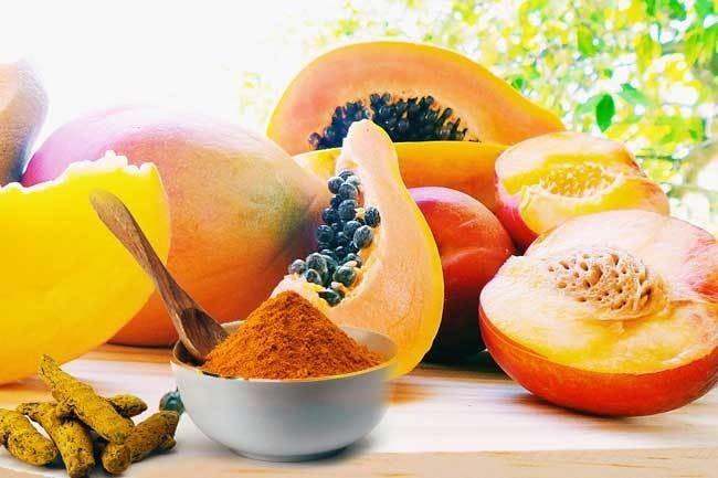 papaya turmeric hair remove