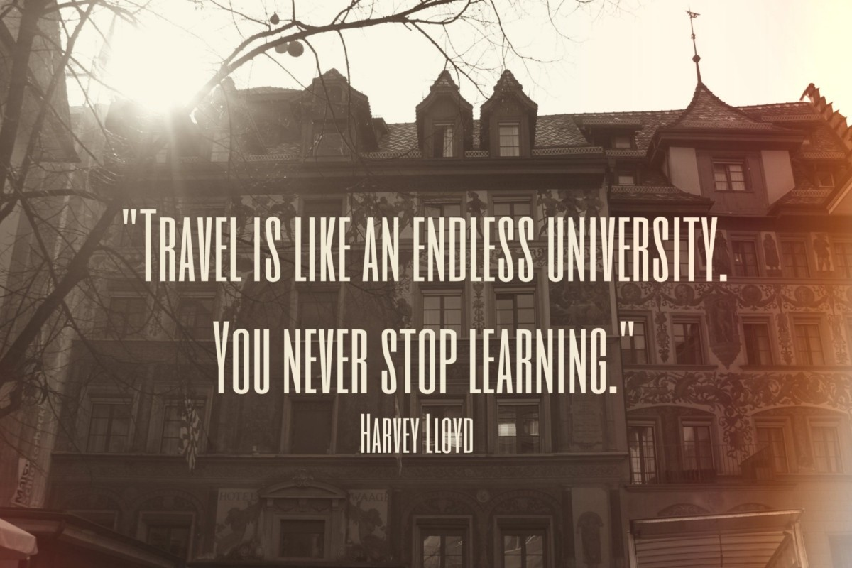 traveling is learning