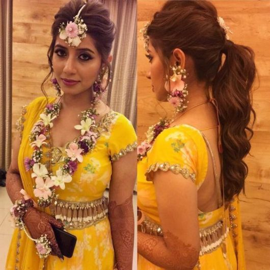 Latest Indian Wedding Hairstyles: New Hairstyles For Indian Wedding Function- Mehdi, Haldi